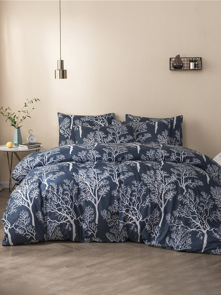 Quilt Three-Piece Home Textile Brushed Printing Kit Duvet Cover Bedding