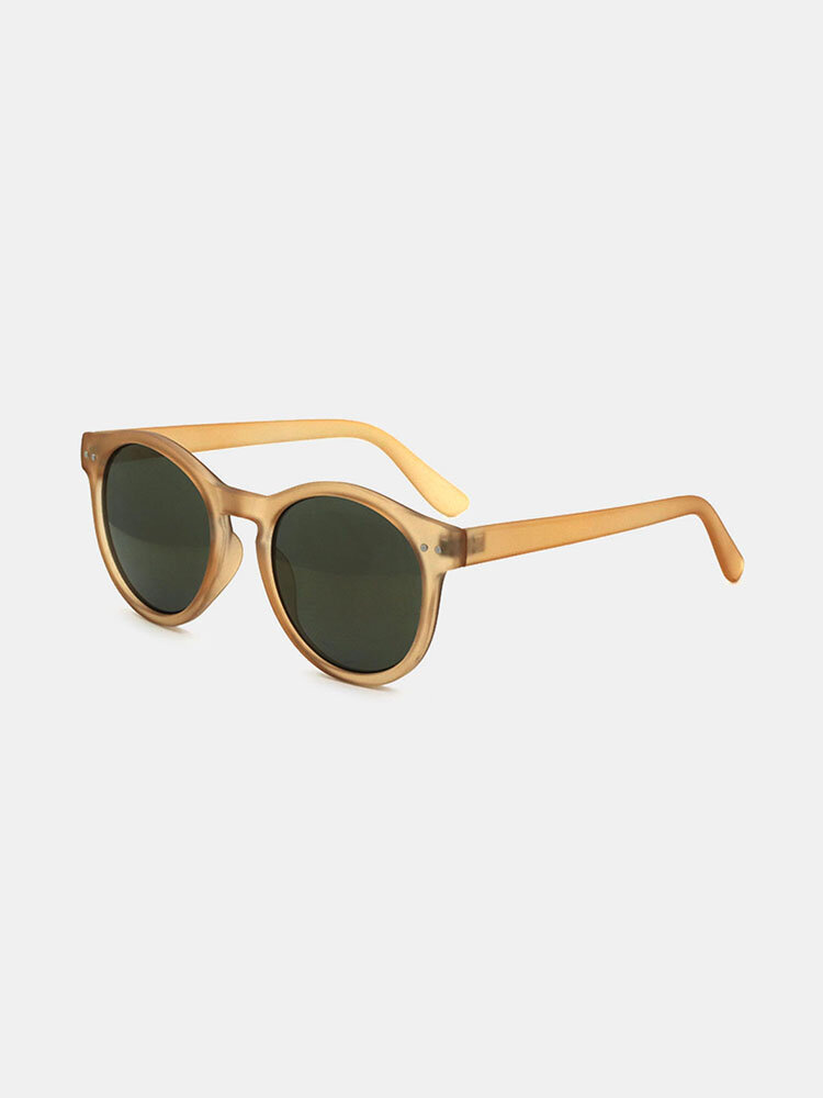 Women Casual Brief Full Frame Round Shape UV Protection Sunglasses