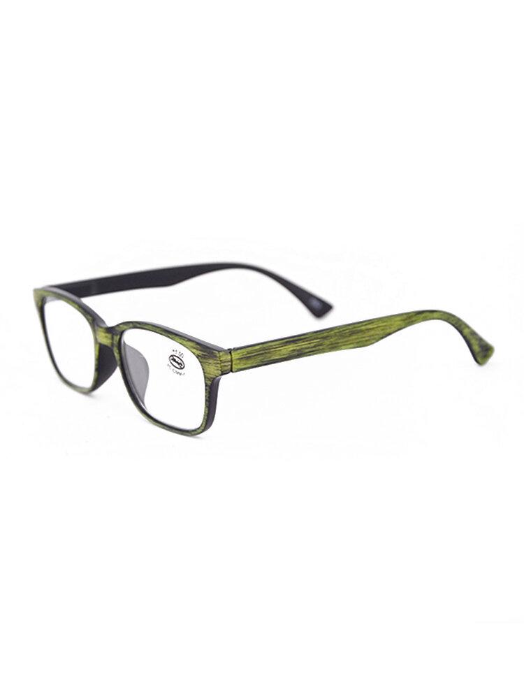 Men Women Funky Reading Glasses Imitation Wood Grain Reading Glasses