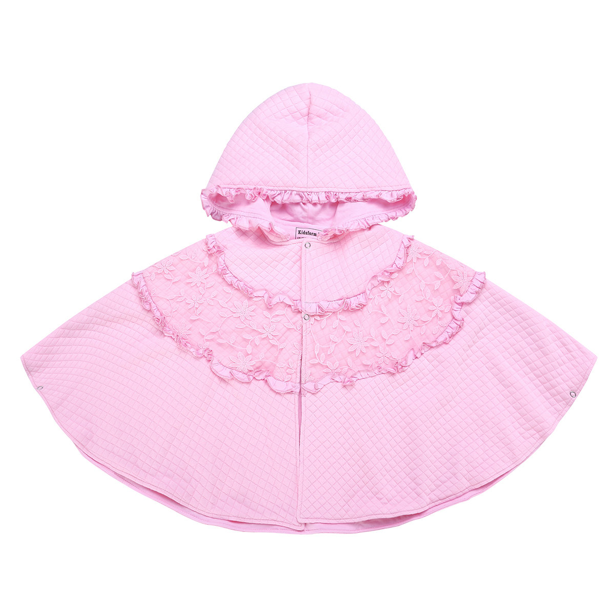Hooded Toddler Girls Cloak Outerwear Coat For 1Y-5Y