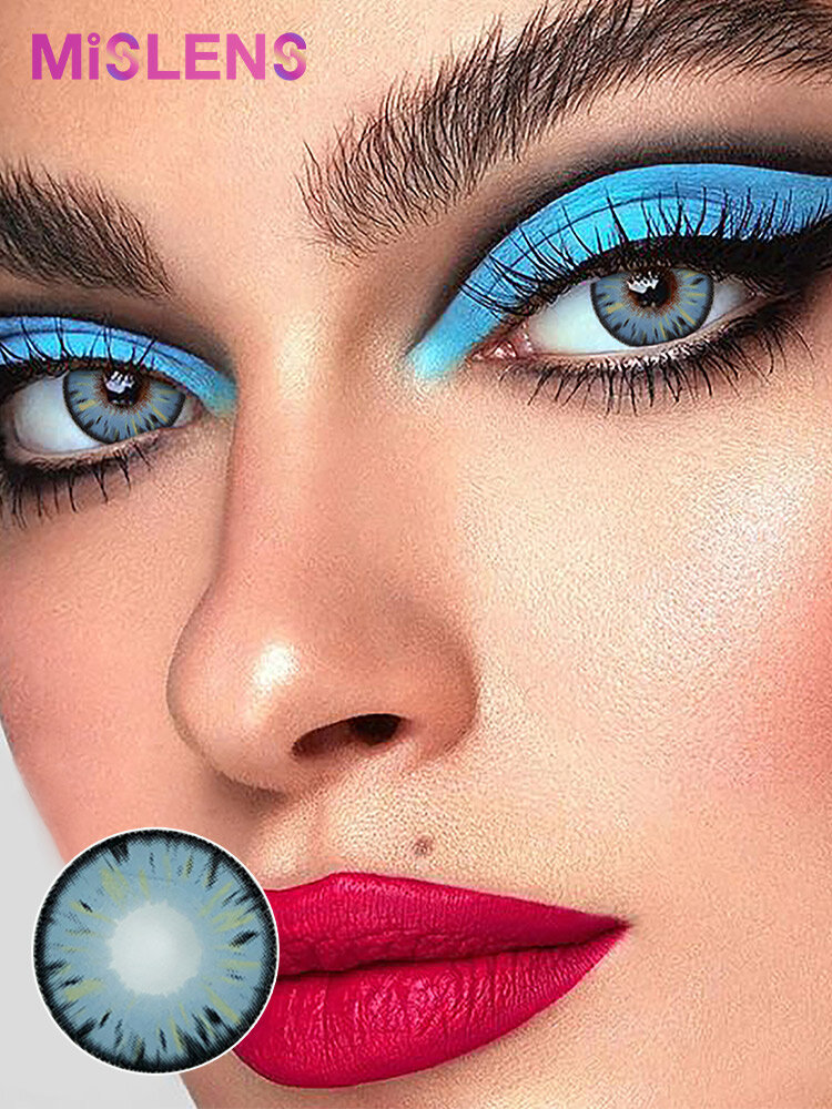 2 Pcs Legacy Blue Non-prescription Yearly Colored Contact Lenses