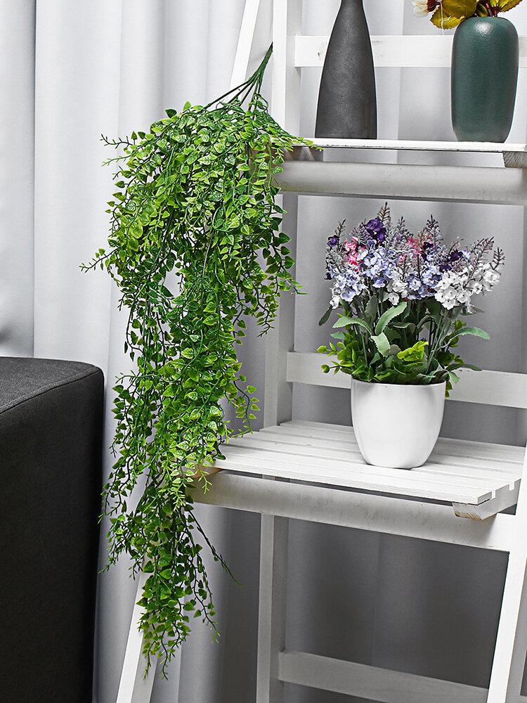 Artificial Planta Suspensão na Parede Flor Falsa Rattan Verde Videira Planta Decoração com Material de Parede