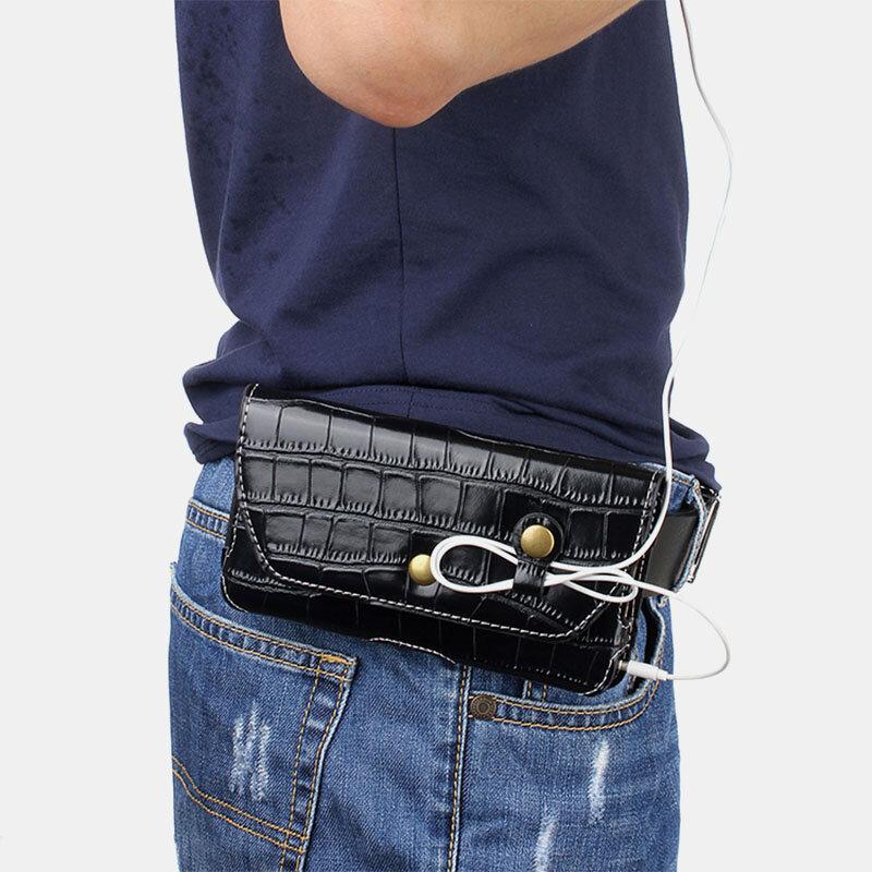 Men Alligator 5.5 Inch Phone Bag Waist Bag Belt Bag