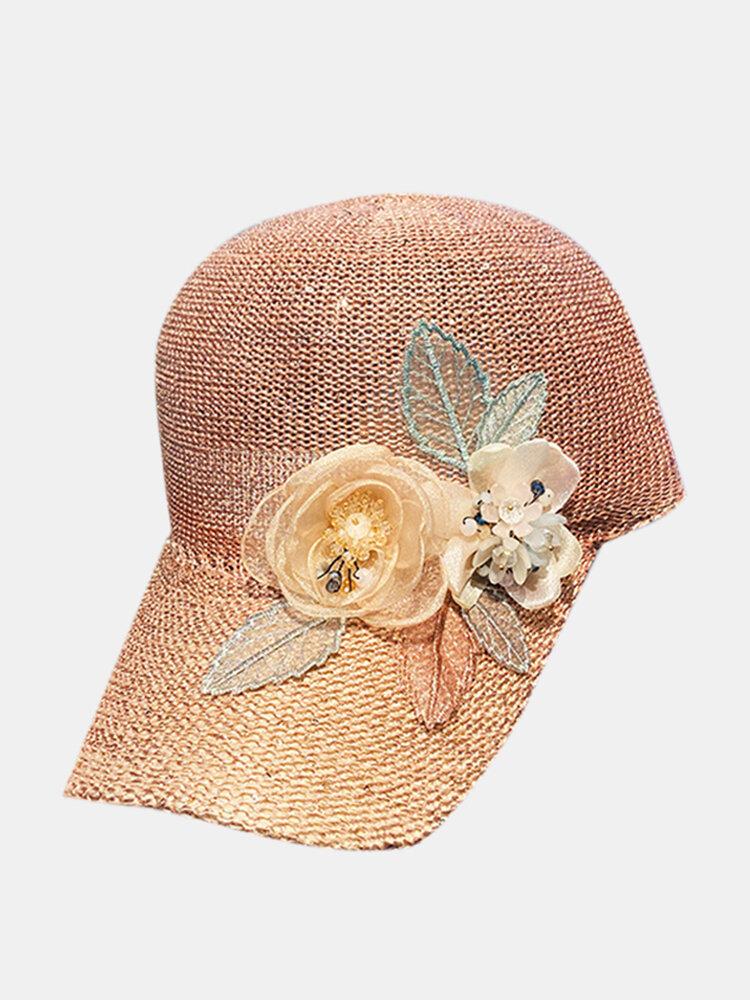 帽子の女性の屋外のアップリケの野球帽の夏の野生の通気性のある空の帽子