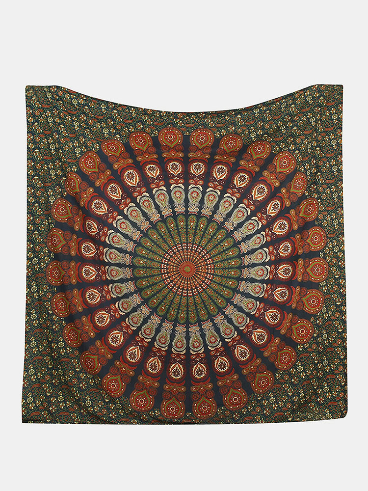 Printed Hanging Tapestry Indian Hippie Bohemian Psychedelic Peacock Mandala Wall Hanging