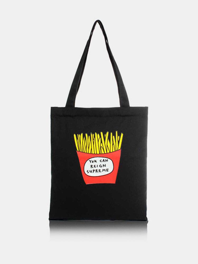 Women Men Canvas Shopping Bag Handbag Shoulder Bag