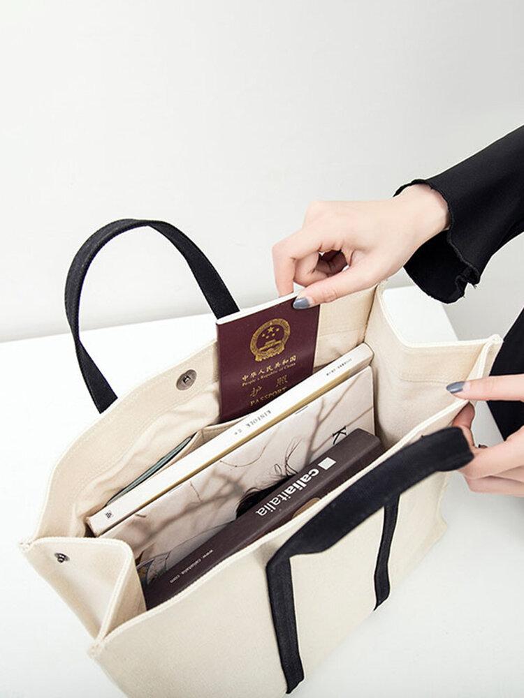 Canvas Casual Storage Bag Travel Bag Handbag Shoulder Bags