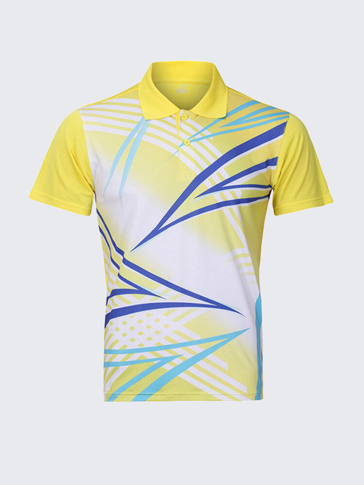 Badminton Table Tennis Competitions Summer Training Sports Quick Drying Suit Golf Shirt for Mens