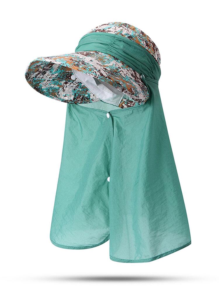 Women's Adjustable Cap Visor Riding Windproof hat Anti-UV Cap Beach Sun Hat