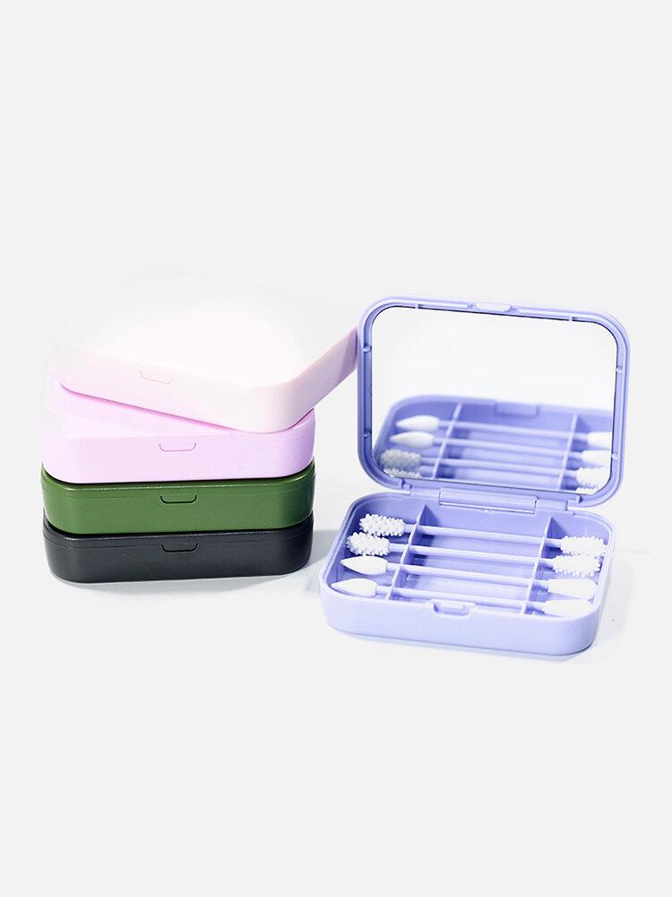 Biologisch abbaubares Silikon-Wattestäbchen mit wiederverwendbarem Spiegel-Ohrreinigungs-Make-up-Wattestäbchen