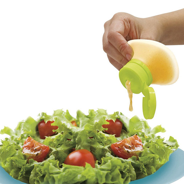 QuickDone Mini Silicone Squeeze Sauce Bottle Salad Dressing Container Cream Oil Jam Ketchup