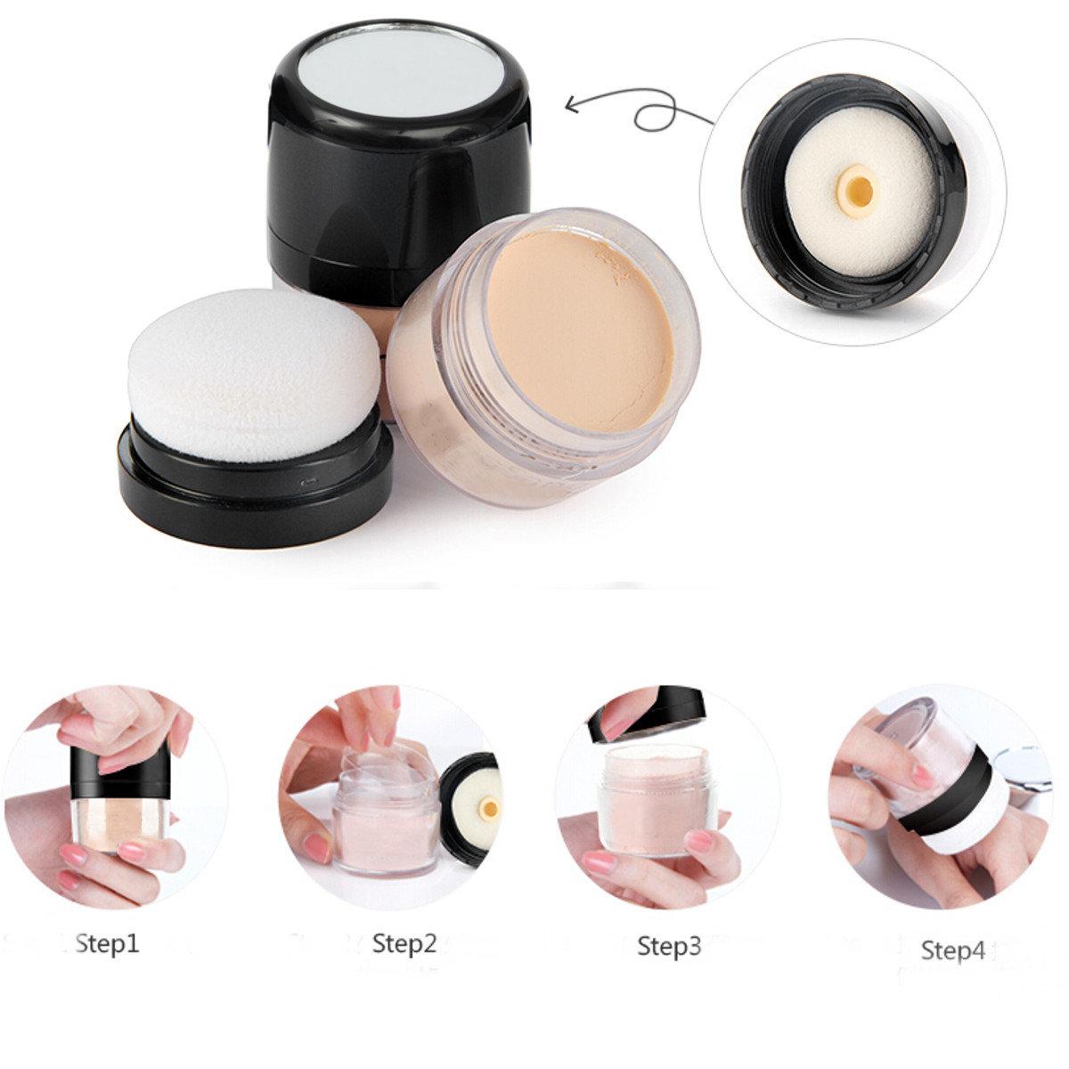 5 Colors Natural Cover Concealer Makeup Repair Loose Powder Pure Minerals Foundation