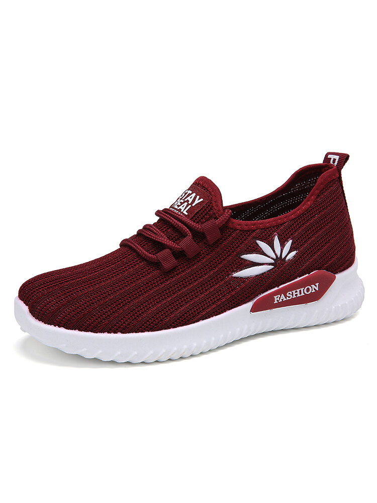 Women Lightweight Comfy Breathable Mesh Slip On Flat Sneakers