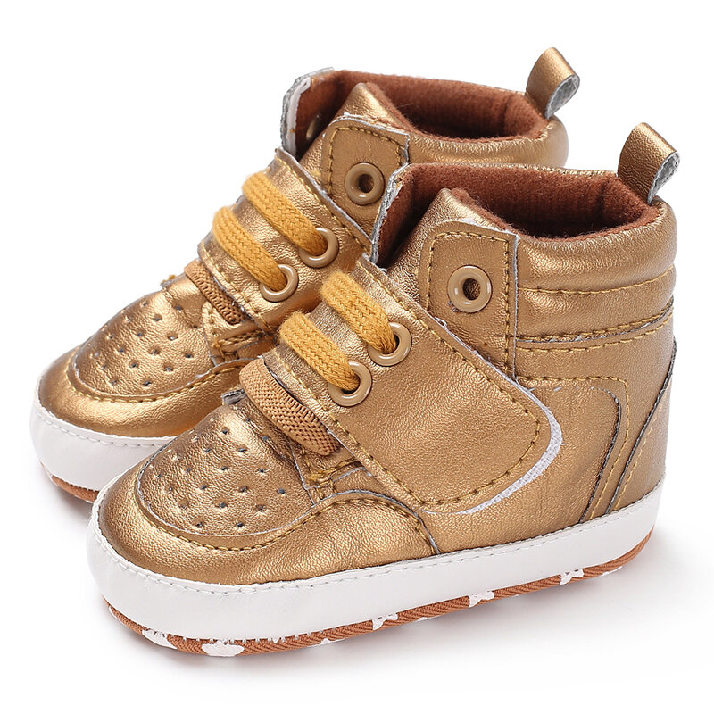 Baby Toddler Shoes Cute Comfy High Top Non Slip Soft Sport Casual Shoes