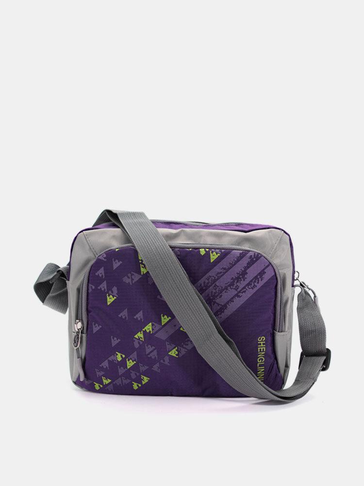 Women Men Versatile Nylon Outdoor Sport Crossbody Bags Casual Leisure Shoulder Bags