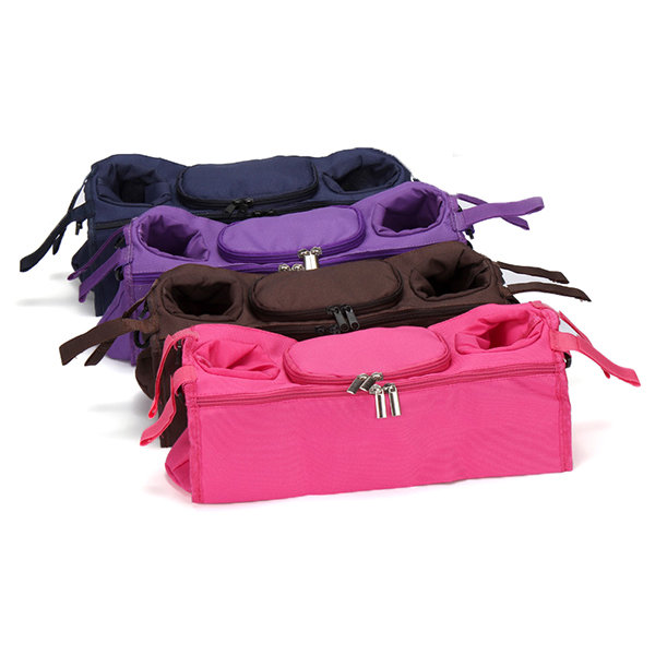 Baby Stroller Organizer Bag Safe Console Tray Pram Hanging Bags Bottle Cup Kids Stroller Accessories