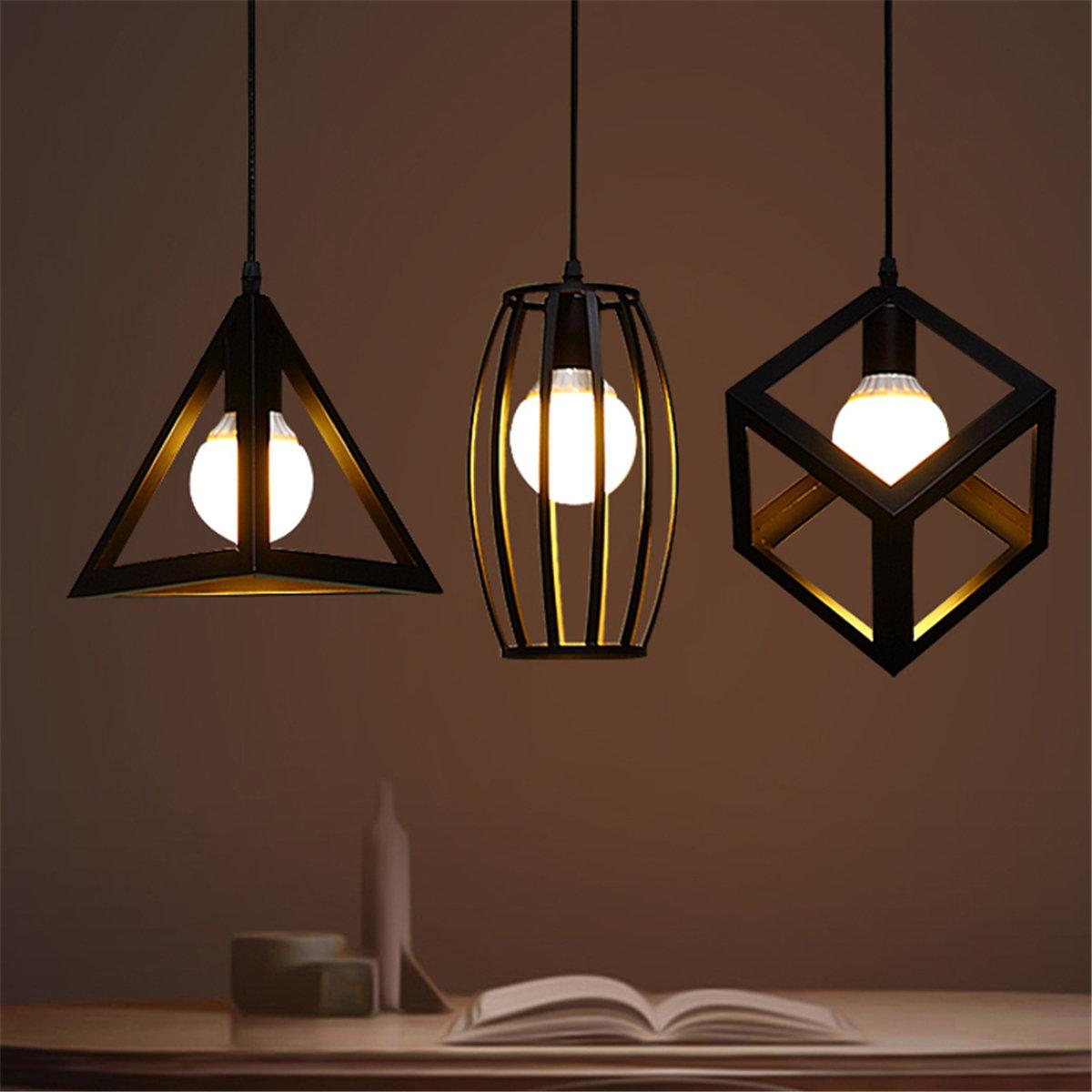 Image of: E27 Industrial Ceiling Light Vintage Chandelier Pendant Kitchen Bar Fixture Lamp Is Retro Newchic