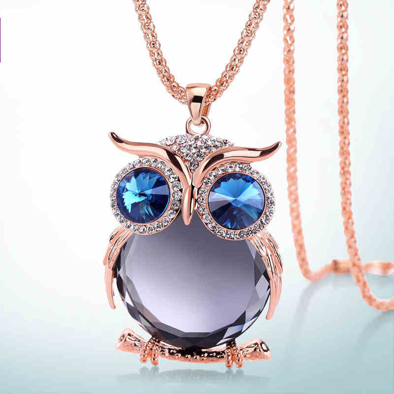 Cute_Pendant_Necklaces_Rhinestone_Colorful_Animals_Night_Owl_Charm_Necklace_Ethnic_Jewelry_for_Women