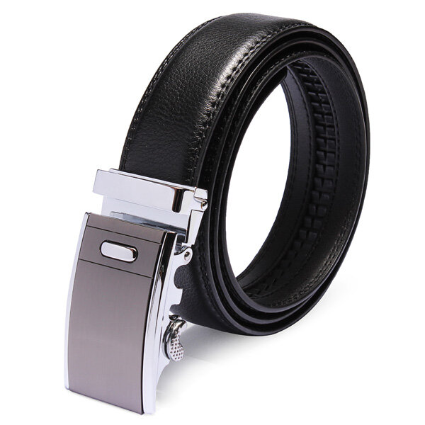 120CM Male Automatic Buckle Business Leather Cowhide Black Belt