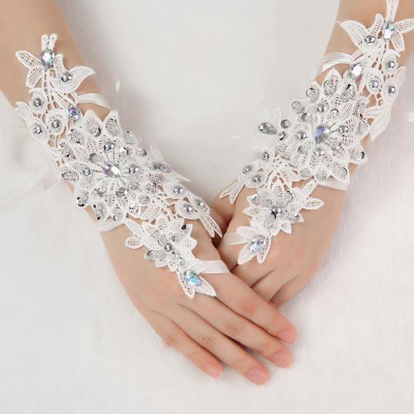 Bride Bridal Wedding Dress Gloves Stage Performances Glove