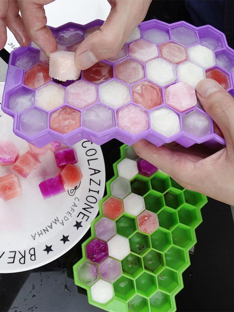 37 Grid Honeycomb Silicone Ice Cube Diy Crushed Ice Ice Maker Ice Mold
