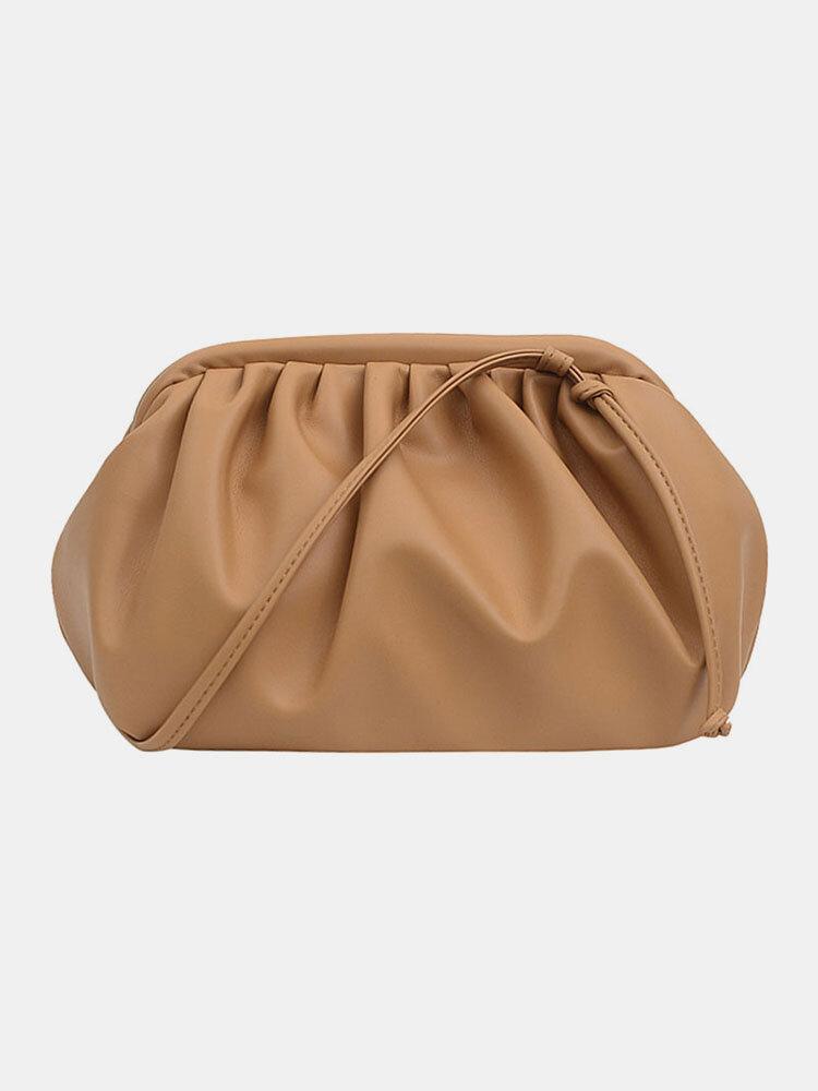Women Solid Pouch Crossbody Bag