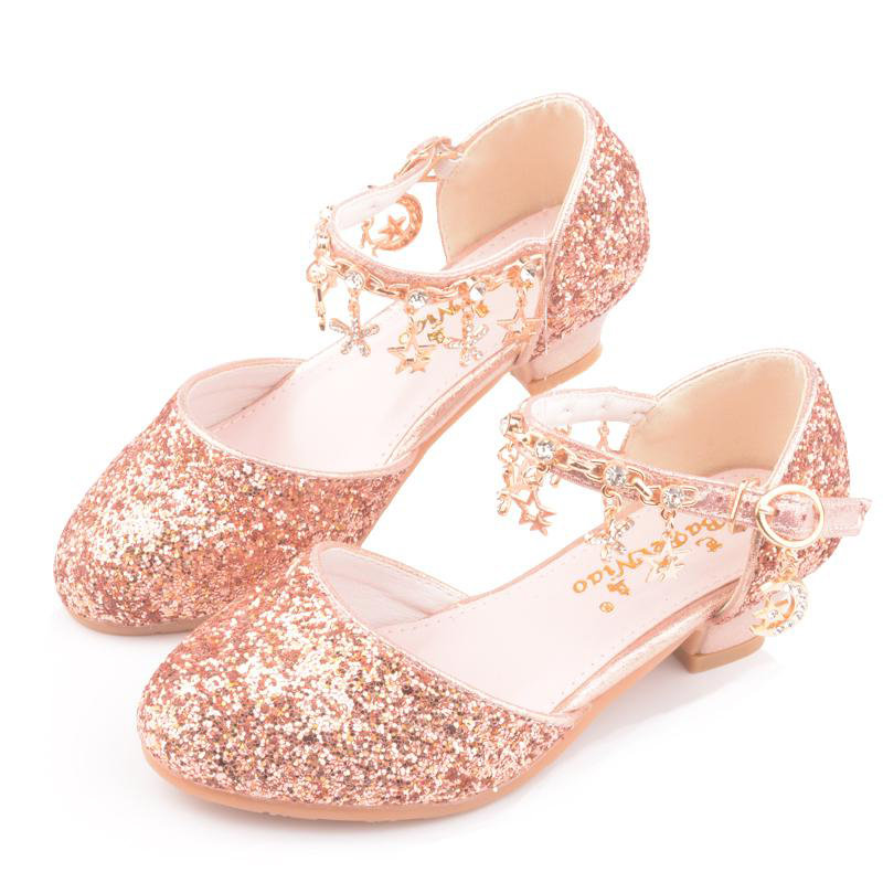 Shining Girls Star Pendant Decor Princess Cosplay Dancing Shoes