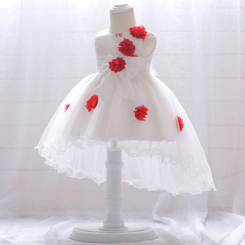 Baby-Dusche Kleider Blumen Patchwork Mädchen Taufe Party Abendkleid für 6-24 Monate