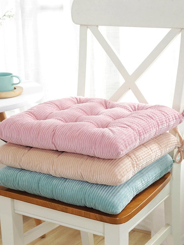 40x40cmコーデュロイPP綿入りシートクッション冬の柔らかく暖かい厚みの椅子のクッションパッド