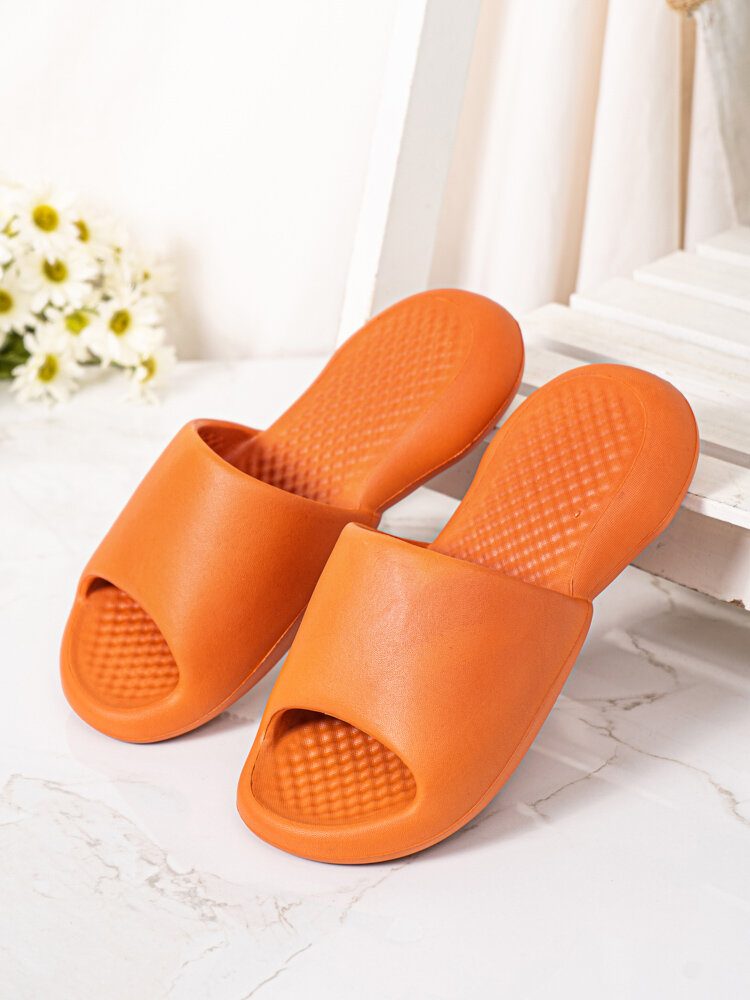 Women Casual Opened Toe Antiskid Comfy Soft Quiet Bathroom Slippers