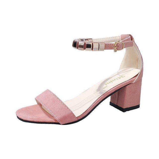 Women Open Toe Buckle  High Heels Sandals