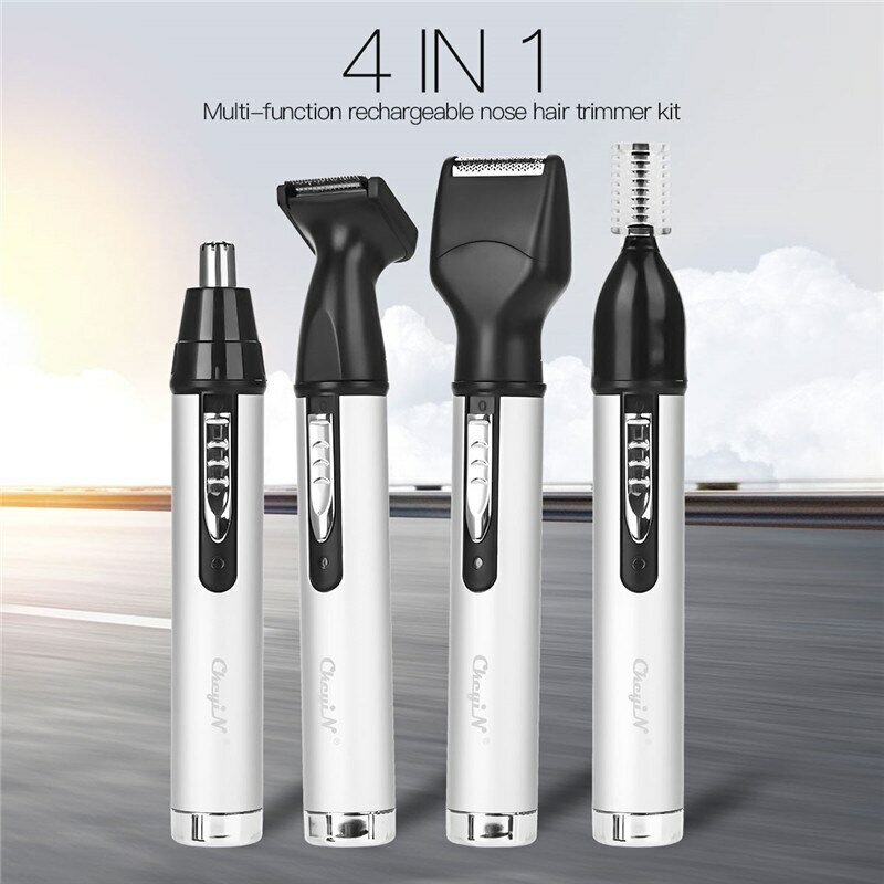 Multifunction Portable Nose Hair Trimmer Set Rechargeable Mini Nose Hair Removal Shaver Clipper
