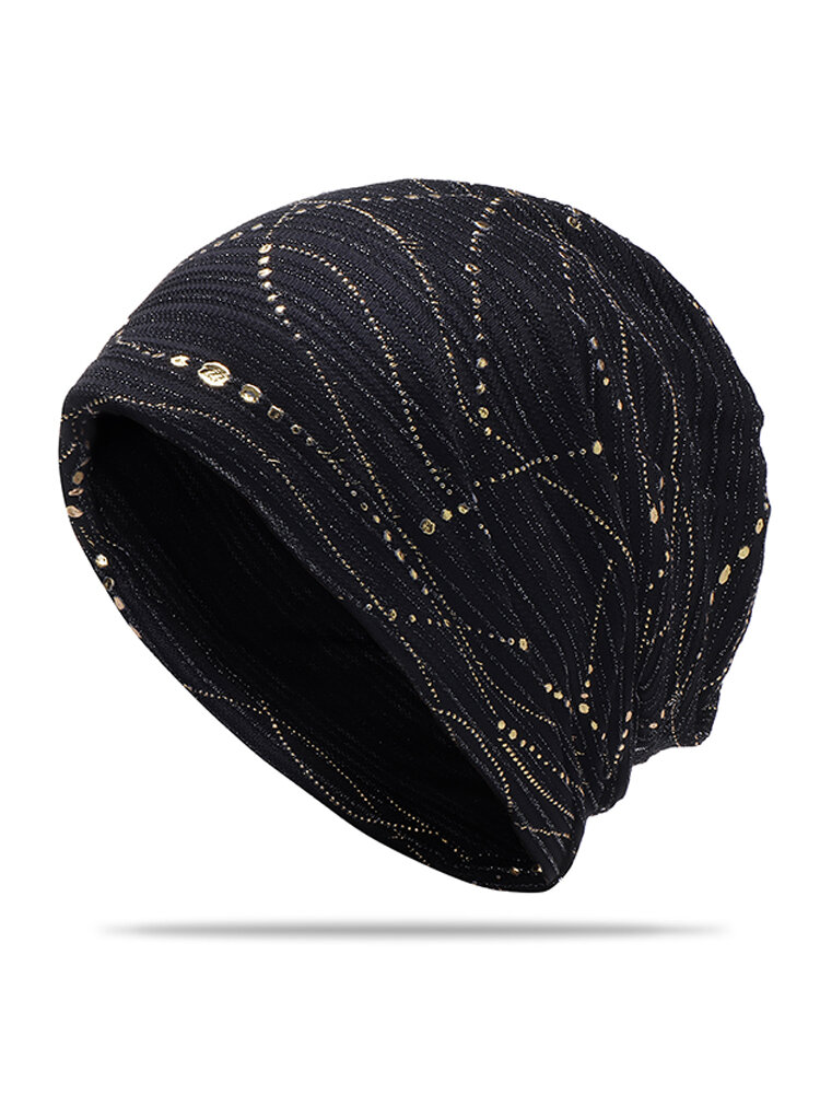 Women Cotton Thin Quick-drying Breathable Sweat Hair Covers Slouchy Soft Flexible Beanie Hat