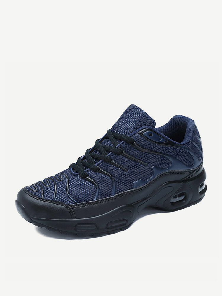 Men Fabric Breathable Air-cushionSole Sport Casual Running Sneakers