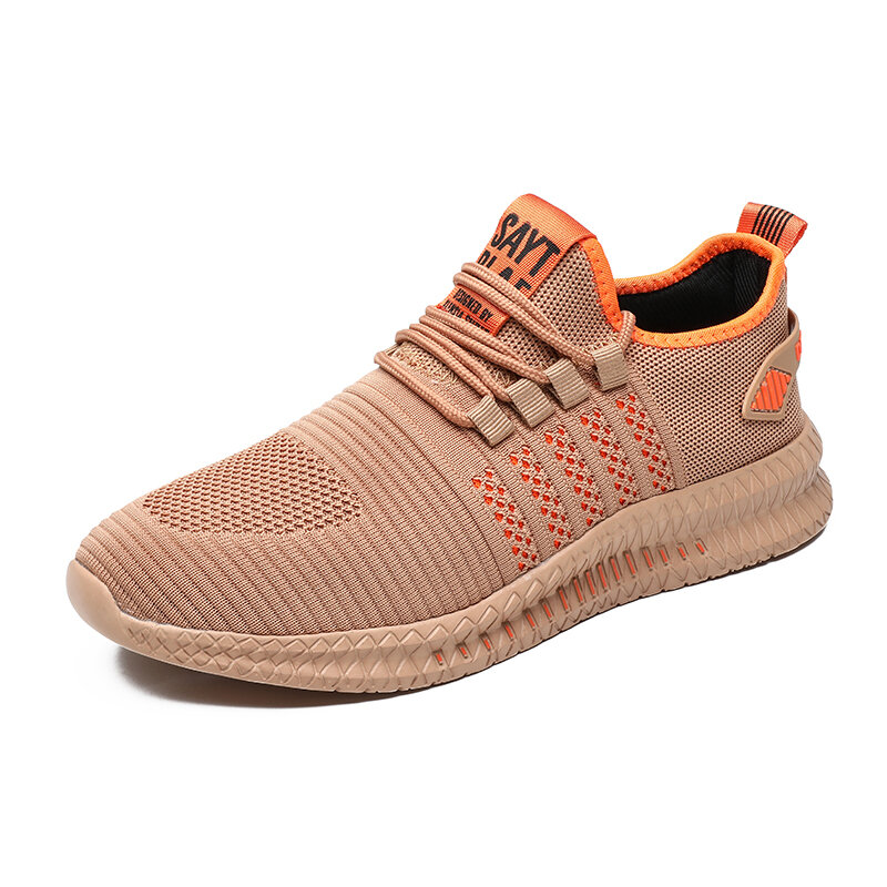 Men Knitted Fabric Lightweight Breathable Casual Sneakers
