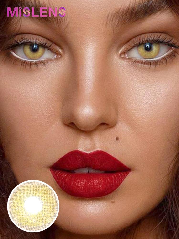 2 Pcs Queen Brown Non-prescription Yearly Colored Contact Lenses
