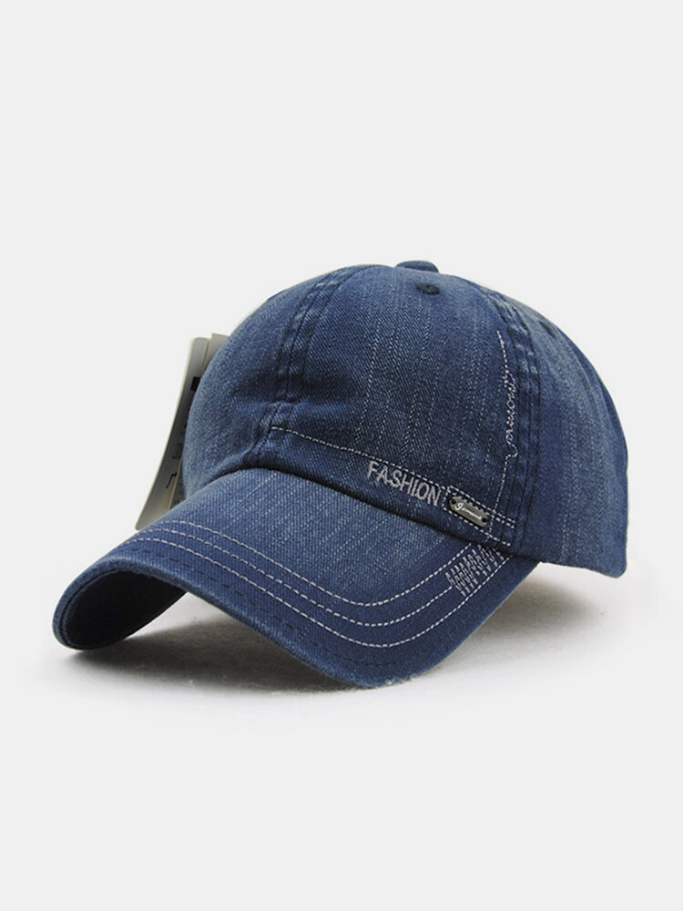 Men Women Vintage Washed Denim Cotton Baseball Cap Adjustable Golf Snapback Hat