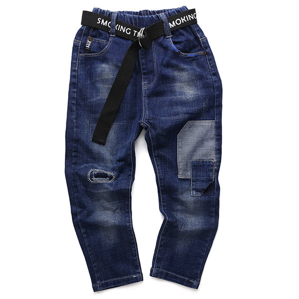Leisure Infant Toddler Boy Jeans Long Pants Kids Spring Autumn Trousers Clothes 4-15Y