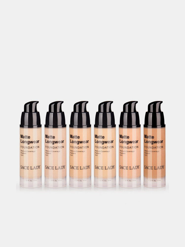 Brighten Thin Liquid Foundation Long-Lasting Foundation Cream 30ml Waterproof Foundation