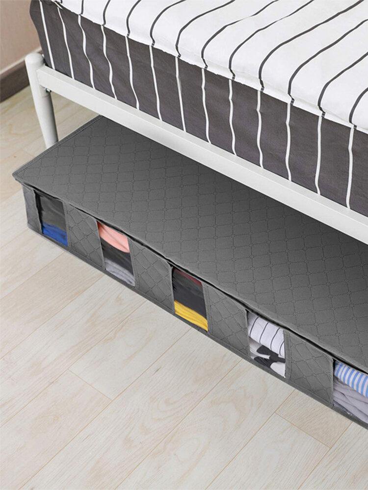 Fünffach klappbare Aufbewahrungsbox für Vliesbetten Staubdichte und feuchtigkeitsbeständige Quilt-Aufbewahrungstasche für Kleidung