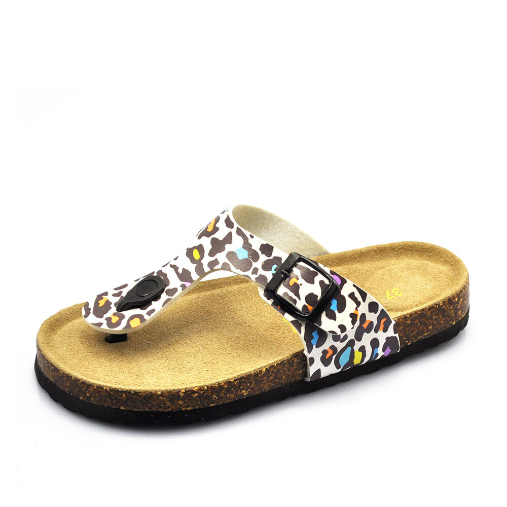 Plus Size Women Casual Soft Sole Flip Flops Printing Beach Slippers
