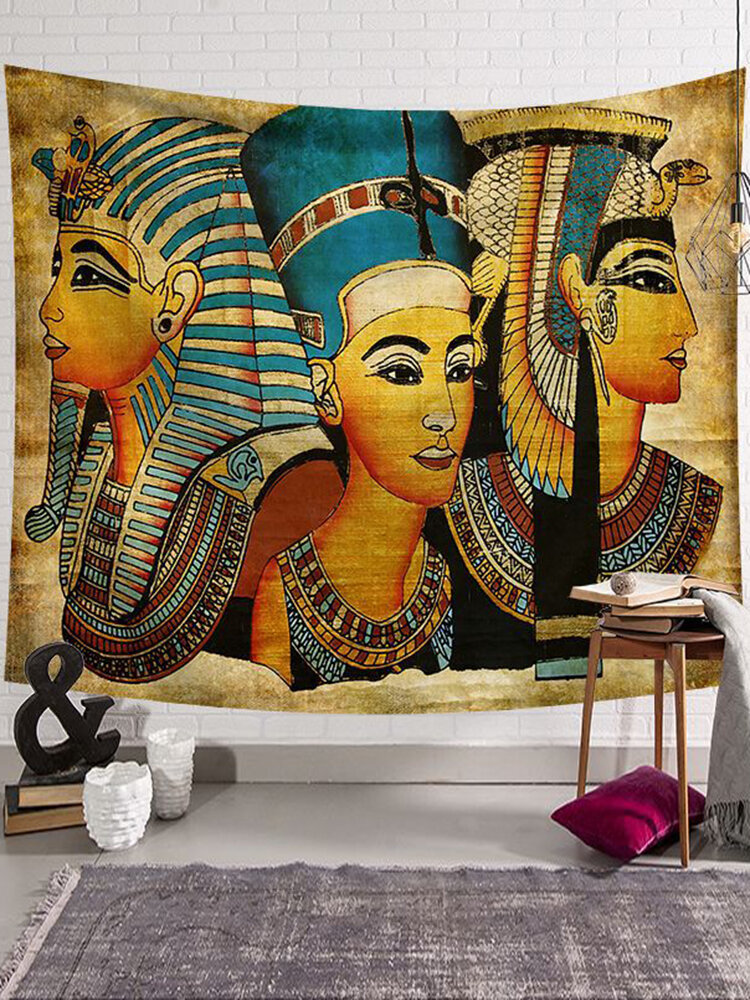 130*150/200*150 cm Ancient Egypt Portrait Style Wall Hanging Tapestry Home Decor Polyester Tapestry