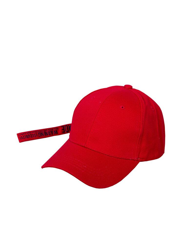 Men Women Long Belt English Printed Baseball Cap British Style Hip Hop Hat