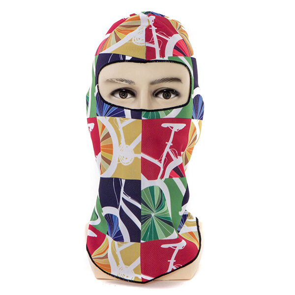 Mens Women Breathable Outdoor Ski Cycling Neck Full Face Mask Hat Windproof Warm Printing Mask
