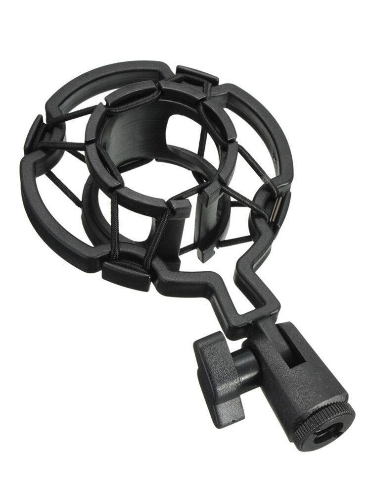 コンデンサーマイク用ユニバーサルブラックプラスチックスタジオマイクショックマウントデスクトップホルダースタンド