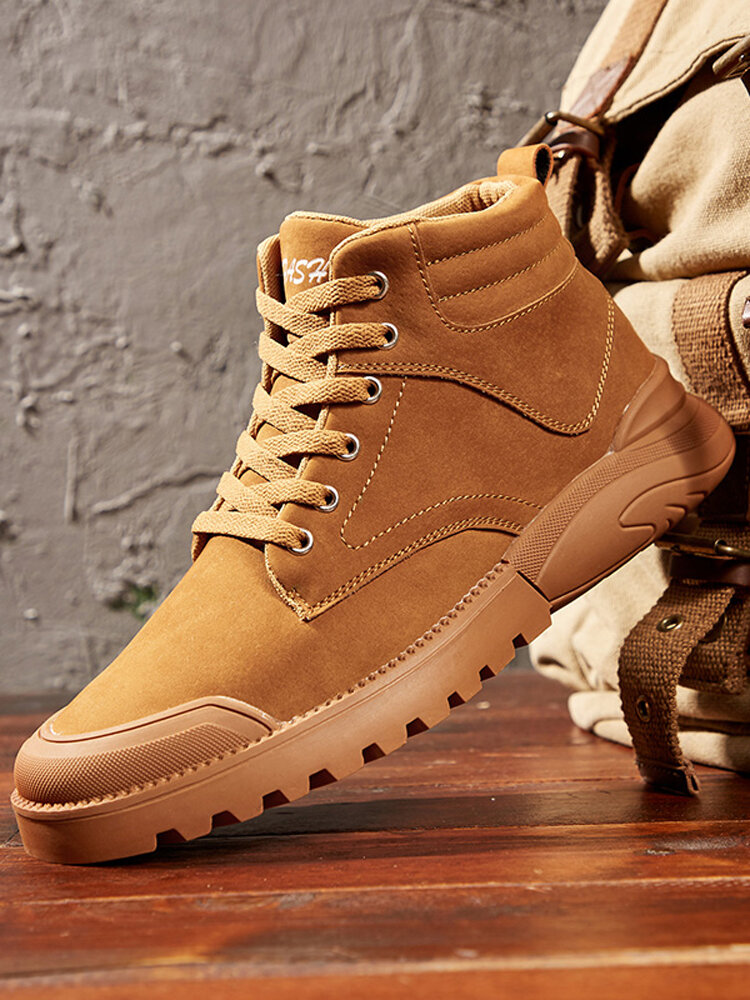 Men Rubber Cap Toe Tight Stitched Pigskin Leather Slip Resistant Tooling Boots