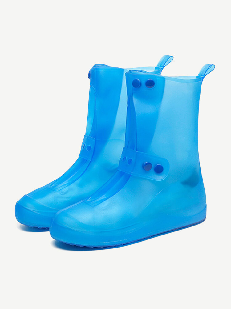 Unisex Thicken Waterproof Slip Resistant Clear Rain Shoes Foot Cover Protective