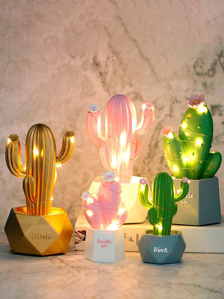 3D الصبار LED ليلة ضوء مصباح الجدار الطفل أطفال نوم ديكور المنزل هدية