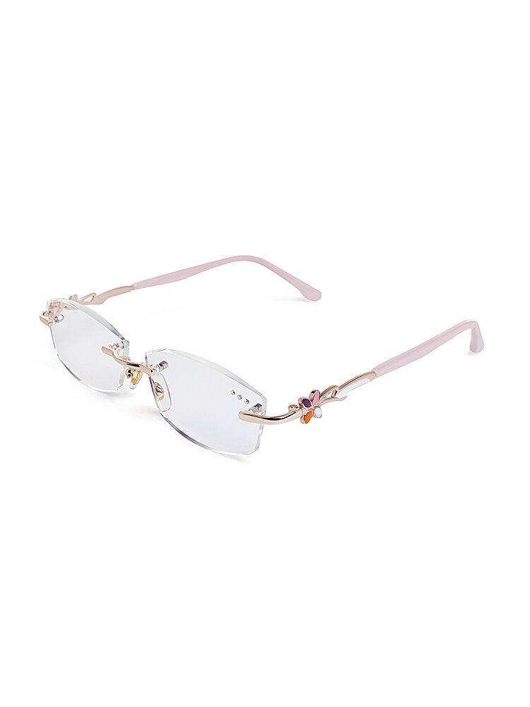 Women Vogue Light Resin Metal PC Anti-fatigue Comfortable Computer Reading Glasses