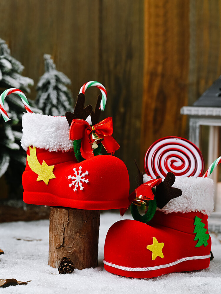 1Pc Candy Boots Christmas Ornaments Christmas Decorations For Home Xmas Gift Box Christmas Decor Adornment